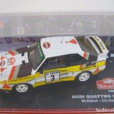 Model Cars - AUDI QUATTRO SPORT DE WALTER ROHRL, 1985, COLECCION RALLY DE MONTECARLO, ALTAYA 1/43. - 71261619