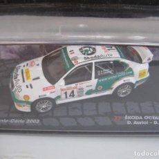 Coches a escala: SKODA OCTAVIA WRC RALLY DE MONTECARLO 2003, COLECCION RALLY DE ITALIA, EAGLE MOSS ALTAYA 1/43.. Lote 243075845