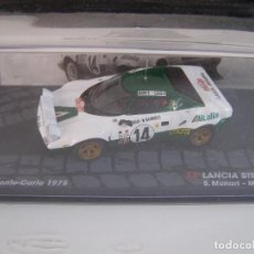 Model Cars - LANCIA STRATOS HF , RALLY DE MONTECARLO DEL 75, COLECCION RALLY DE ITALIA, EAGLE MOSS ALTAYA 1/43. - 130367439