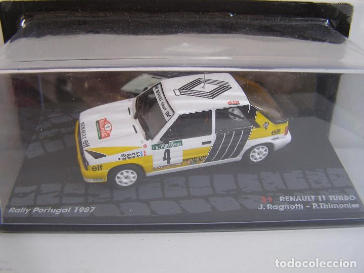 Coches a escala: RENAULT 11 TURBO, RALLY PORTUGAL DEL 87,RAGNOTTI, COLECCION RALLY DE ITALIA, EAGLE MOSS ALTAYA 1/43. - Foto 1 - 128867858