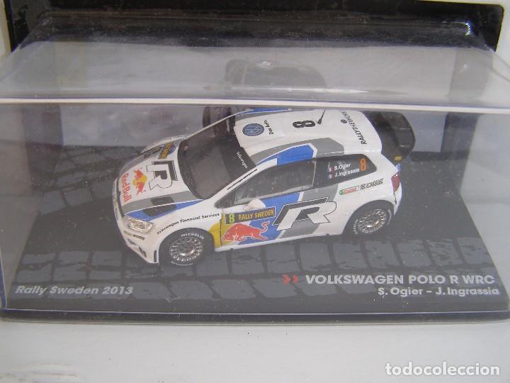VOLKSWAGEN POLO R WRC, RALLY SUECIA 2013, COLECCION RALLY DE ITALIA, EAGLE MOSS ALTAYA 1/43. (Juguetes - Coches a Escala 1:43 Otras Marcas)