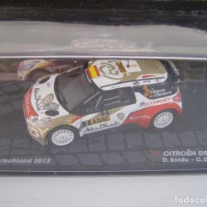 Coches a escala: CITROEN DS3 WRC, RALLY DE ALEMANIA 2013,SORDO, COLECCION RALLY DE ITALIA, EAGLE MOSS ALTAYA 1/43.. Lote 179346910