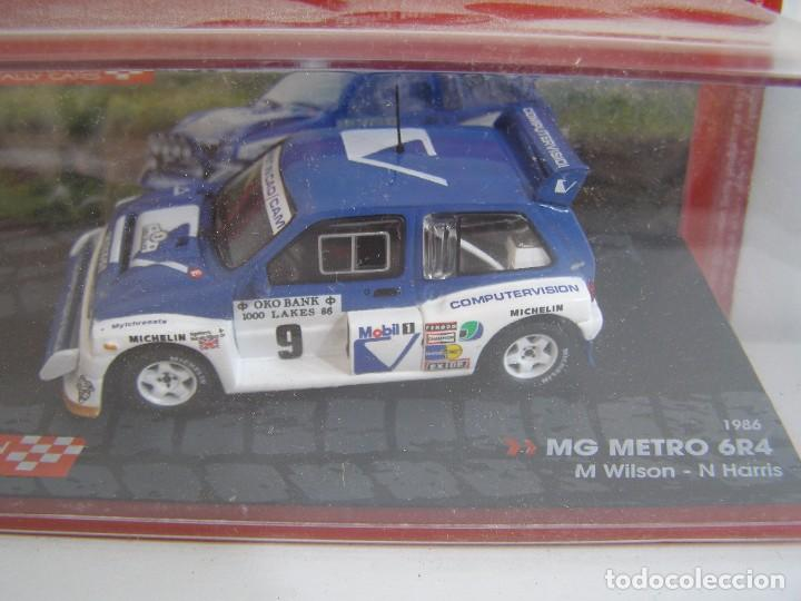 Coches a escala: MG METRO 6R4 DE 1986, COLECCION CHAMPION RALLY CARS , EAGLE MOSS ALTAYA 1/43. - Foto 1 - 135865597