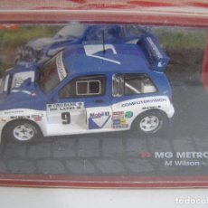 Coches a escala: MG METRO 6R4 DE 1986, COLECCION CHAMPION RALLY CARS , EAGLE MOSS ALTAYA 1/43.. Lote 179151893