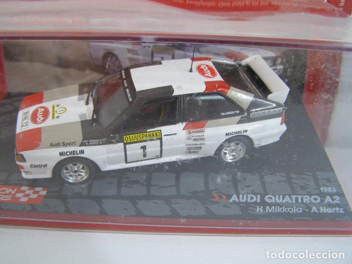 AUDI QUATTRO A2 DE 1983, COLECCION CHAMPION RALLY CARS , EAGLE MOSS ALTAYA 1/43. (Juguetes - Coches a Escala 1:43 Otras Marcas)
