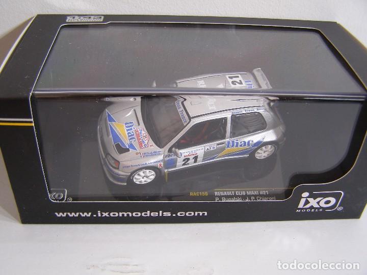 CLIO MAXI N21 RALLY TOUR DE COURSE DE 1995, IXO RAC 156 ESCALA 1/43 PILOTO P. BUGALSKY (Juguetes - Coches a Escala 1:43 Otras Marcas)