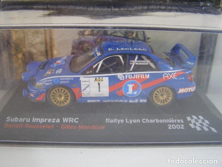 1/43 SUBARU IMPREZA WRC 2002 , COLECCION CAMPEONES FRANCESES DE RALLY ALTAYA. (Juguetes - Coches a Escala 1:43 Otras Marcas)