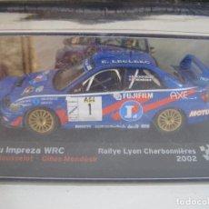 Coches a escala: 1/43 SUBARU IMPREZA WRC 2002 , COLECCION CAMPEONES FRANCESES DE RALLY ALTAYA.. Lote 135229162