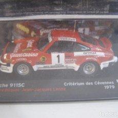 Coches a escala: 1/43, PORSCHE 911 SC DE 1979, COLECCION CAMPEONES FRANCESES DE RALLY ALTAYA.. Lote 71459055