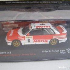 1/43,BMW M3 E30 DE 1989, COLECCION CAMPEONES FRANCESES DE RALLY ALTAYA.