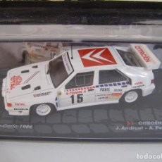 Model Cars - 1/43 CITROEN BX 4TC RALLY MONTECARLO DE 1986, COLECCION ITALIANA DE RALLY EAGLE MOSS ALTAYA. - 105810026
