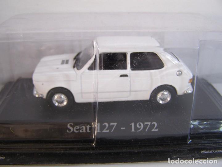 1/43 SEAT 127 BLANCO DE 1972, RBA, HACHETTE ALTAYA. (Juguetes - Coches a Escala 1:43 Otras Marcas)