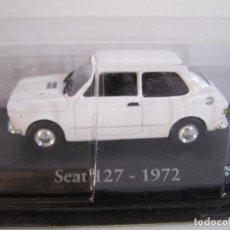 Coches a escala: 1/43 SEAT 127 BLANCO DE 1972, RBA, HACHETTE ALTAYA.. Lote 195511735