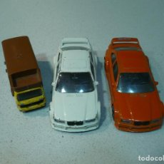 Coches a escala: 2 COCHES BMW M3 BURAGO ITALY 1 CAMION MERCEDES MAJORETTS FRANCE. Lote 113710714