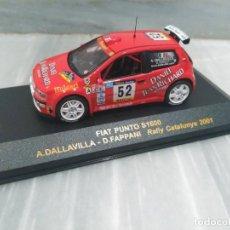 Coches a escala: FIAT PUNTO S1600 - A.DALLAVILLA - D.FAPPANI - RALLY CATALUNYA 2001 - RALLY CAR 1/43. Lote 71727715