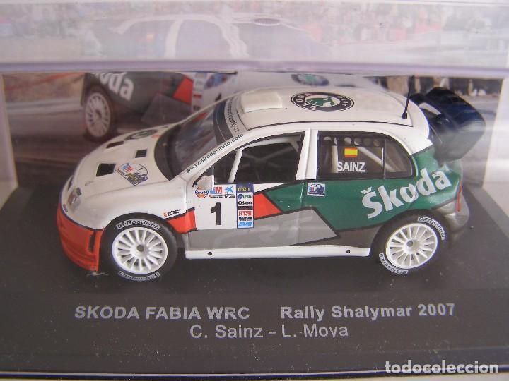 SKODA FABIA WRC RALLY SHALYMAR 2007 ,CARLOS SAINZ, ALTAYA SOLO PARA ABONADOS. (Juguetes - Coches a Escala 1:43 Otras Marcas)