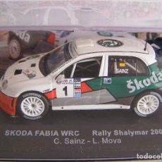 Coches a escala: SKODA FABIA WRC RALLY SHALYMAR 2007 ,CARLOS SAINZ, ALTAYA SOLO PARA ABONADOS.. Lote 71797803