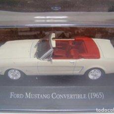 Coches a escala: FORD MUSTANG CONVERTIBLE DE 1965, COLECION DE COCHES DE MEXICO, ESCALA 1/43, ALTAYA.. Lote 72887979