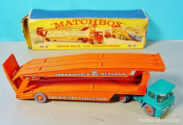 MATCHBOX CAR TRANSPORTER. M-8. CAJA ORIGINAL MADE IN ENGLAND. (Juguetes - Coches a Escala 1:43 Otras Marcas)