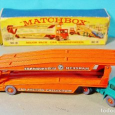 Coches a escala: MATCHBOX CAR TRANSPORTER. M-8. CAJA ORIGINAL MADE IN ENGLAND.. Lote 74787631