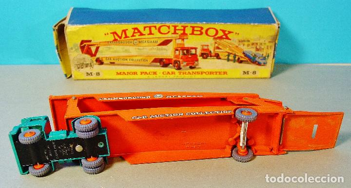 Coches a escala: MATCHBOX CAR TRANSPORTER. M-8. CAJA ORIGINAL MADE IN ENGLAND. - Foto 3 - 74787631