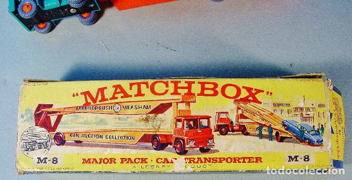Coches a escala: MATCHBOX CAR TRANSPORTER. M-8. CAJA ORIGINAL MADE IN ENGLAND. - Foto 4 - 74787631