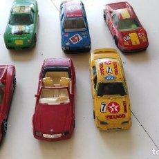 Coches a escala: LOTE COCHES DURAGO -CHEVROLET CORVETTE,FERRARI 348,FIAT TIPO ,FORD SIERRA, FERRARI TESTA ROSSA,. Lote 76750603