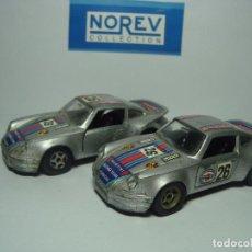 Coches a escala: LOTE DE COCHES PORSCHE 911 MARTINI DE NOREV 1,43 JET CAR METAL. Lote 40152165