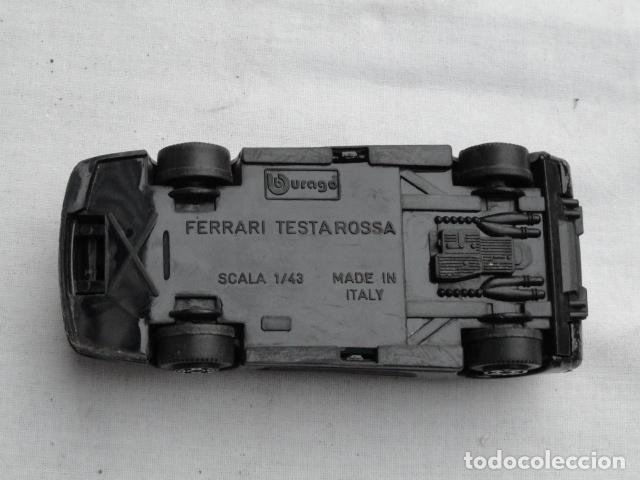 Coches a escala: COCHE JUGUETE FERRARI TESTAROSSA MARCA BURAGO. - Foto 5 - 81700988