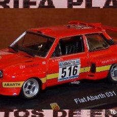 Coches a escala: FIAT ABARTH 031 (SEAT 131) RALLYE GIRO DE ITALIA 1975 G.PIANTA - B.SCABINI ESCALA 1:43 DE HACHETTE . Lote 84690340
