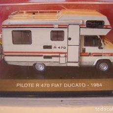 Coches a escala: AUTOCARAVANA FIAT DUCATO PILOTE R470 CAMPING CAR, TEST DE ITALIA, 1/43 HACHETTE. Lote 86709896