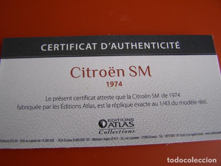Coches a escala: CITROEN SM 1974, EDICIONES ATLAS , COLECCIÓN SUIZA, ESCALA 1/43 - Foto 4 - 89049540