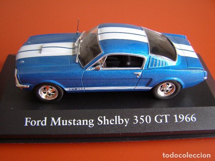 FORD MUSTANG SHELBY 350 GT DE 1966, EDICIONES ATLAS , COLECCIÓN SUIZA, ESCALA 1/43 (Juguetes - Coches a Escala 1:43 Otras Marcas)