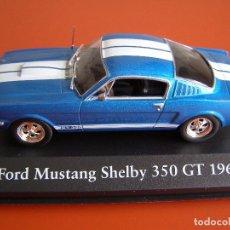 Coches a escala: FORD MUSTANG SHELBY 350 GT DE 1966, EDICIONES ATLAS , COLECCIÓN SUIZA, ESCALA 1/43. Lote 253020230