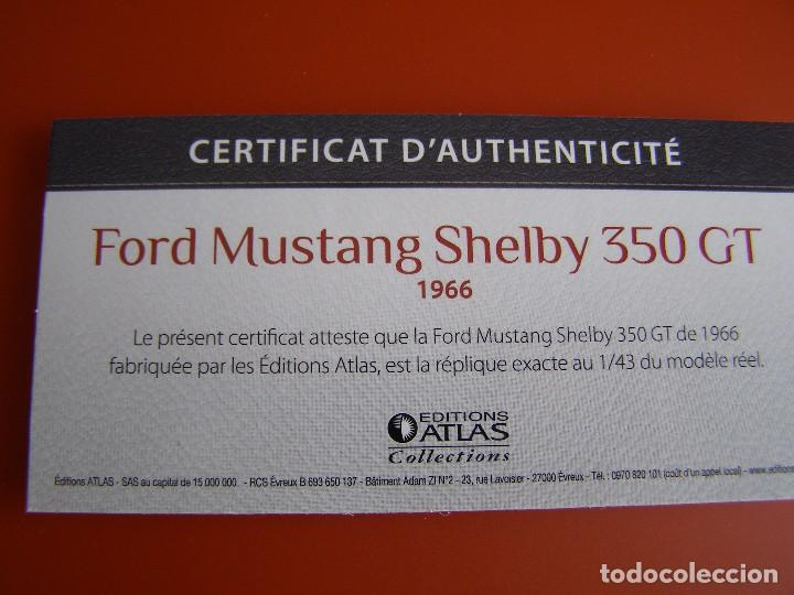 Coches a escala: FORD MUSTANG SHELBY 350 GT DE 1966, EDICIONES ATLAS , COLECCIÓN SUIZA, ESCALA 1/43 - Foto 4 - 120822531