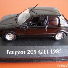 Coches a escala: PEUGEOT 205 GTI DE 1985, EDICIONES ATLAS , COLECCIÓN SUIZA, ESCALA 1/43. Lote 89537048