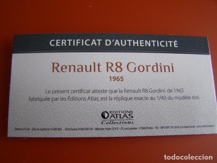 Coches a escala: RENAULT R8 GORDINI DE 1965, EDICIONES ATLAS , COLECCIÓN SUIZA, ESCALA 1/43 - Foto 4 - 89050064
