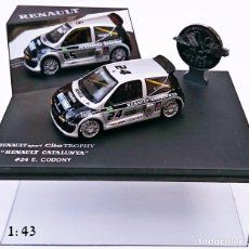 Coches a escala: UNIVERSAL HOBBIES RENAULT SPORT CLIO TROPHY CATALUÑA Nº 24 E CODONY. Lote 56201582