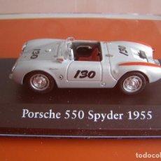 Coches a escala: PORSCHE 550 SPYDER DE 1955, EDICIONES ATLAS, COLECCION SUIZA, ESCALA 1/43. Lote 213621007