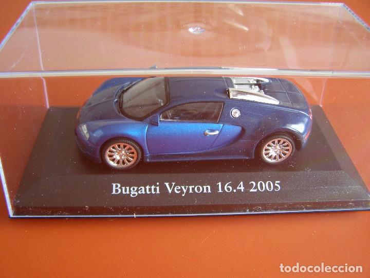 BUGATTI VEYRON 16.4 DE 2005, EDICIONES ATLAS, COLECCION SUIZA, ESCALA 1/43 (Juguetes - Coches a Escala 1:43 Otras Marcas)