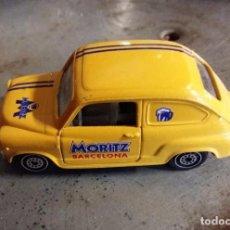 Coches a escala: COCHE PROPAGANDA MORITZ BARCELONA, SEAT 600, ESCALA 1/43. Lote 98847103
