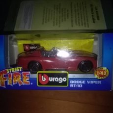 Coches a escala: STREET FIRE. BURAGO. DODGE VIPER RT/10, . Lote 137333673
