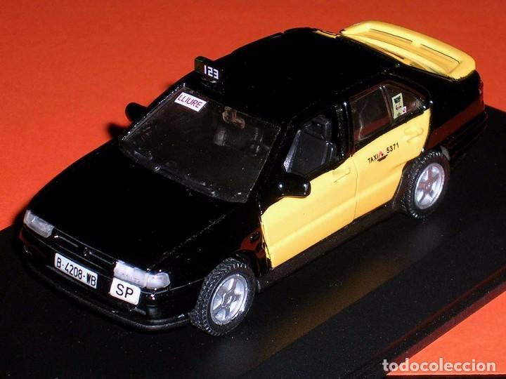 Coches a escala: Seat Toledo 1ª serie, Taxi Barcelona, metal esc. 1/43, Kit Car 43, base Pilen AHC. Impecable - Foto 3 - 158544697