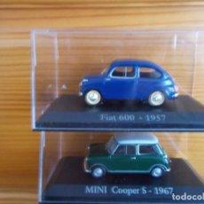 Coches a escala: LOTE DE 2 COCHES (FIAT 600- 1957 Y MINI COOPER S- 1967). ESCALA 1/43. Lote 109392760