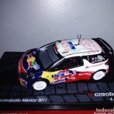 Coches a escala: COCHE CITRÖEN DS3 WRC. RALLY GUANAJUATO MÉXICO 2011. ESCALA 1/43. Lote 136259665