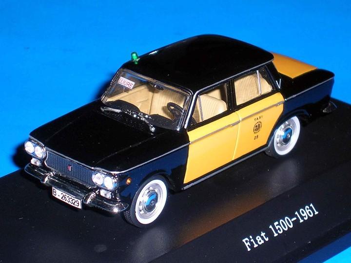 FIAT 1500 TAXI BARCELONA, METAL ESC. 1/43, KIT CAR 43, BASE STARLINE. IMPECABLE (Juguetes - Coches a Escala 1:43 Otras Marcas)