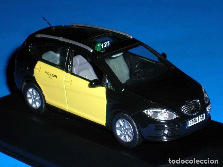 SEAT ALTEA XL TAXI BARCELONA, METAL ESC. 1/43, KIT CAR 43, BASE J-COLLECTION SEAT AUTO EMOCIÓN. (Juguetes - Coches a Escala 1:43 Otras Marcas)
