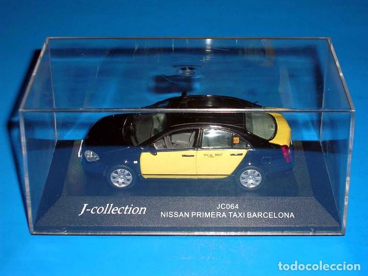 Coches a escala: Nissan Primera Taxi Barcelona, metal esc. 1/43, J-Collection. Impecable - Foto 2 - 112902299