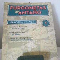 Coches a escala: RENAULT 1000 KG SAN MIGUEL 1/43 Y FOLLETO Nº 1 COLECCIÓN ALTAYA FURGONETAS DE ANTAÑO. Lote 112977367