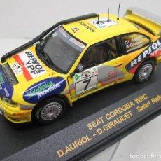Coches a escala: SEAT CORDOBA WRC,AURIOL-GIRAUDET,SAFARI RALLYE 2000....RALLY CAR COLLECTION PLANETA DEAGOSTINI 1/43. Lote 113337503